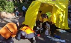 Un autobús de la EMT atropella a un hombre en Barajas