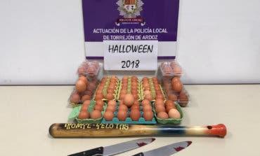 La Policía de Torrejón incautó varias docenas de huevos a menores en Halloween