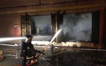 Se incendia el antiguo cine Palafox de Torrejón