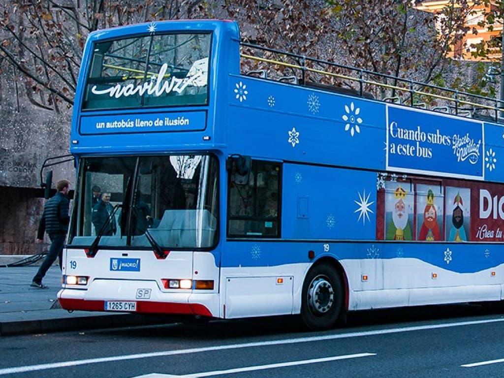 Agotadas las entradas del Naviluz, el bus de la Navidad en Madrid