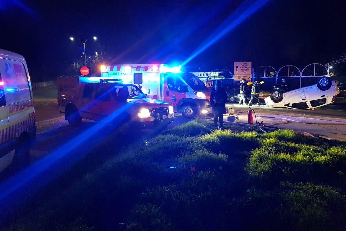 Dos heridos en un accidente de tráfico en Mejorada del Campo