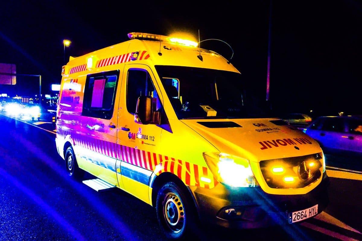 Herido grave un joven motorista en Nuevo Baztán
