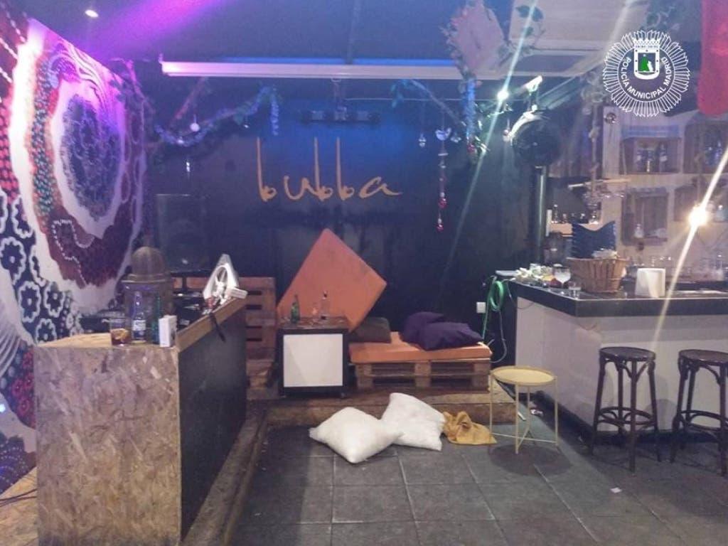 Desalojada una fiesta en Madrid con drogas, música a todo volumen y puertas cerradas