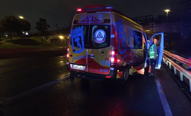 Herida grave una motorista tras sufrir un accidente en la A-2