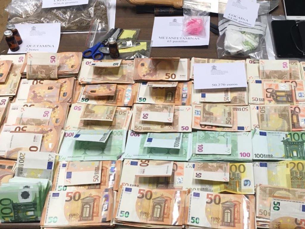 Detenido un individuo que traficaba con siete tipos de drogas