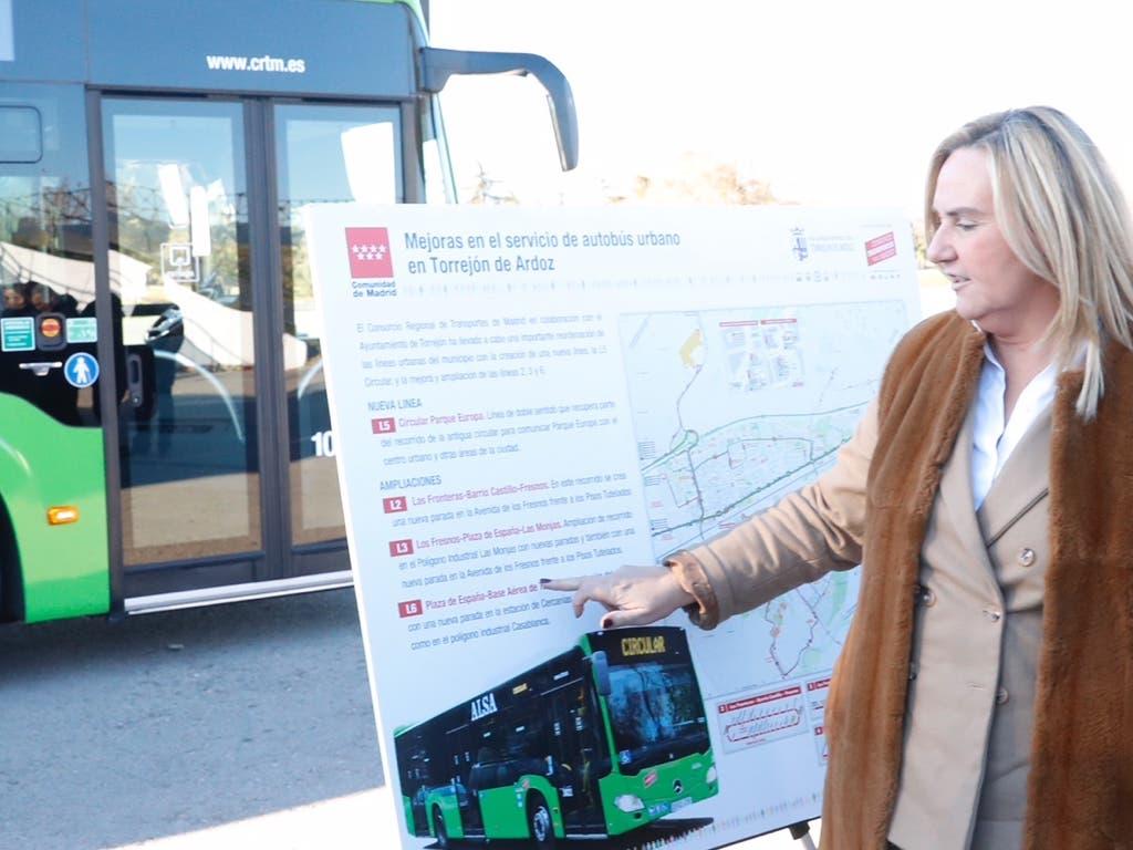 El nuevo mapa de los autobuses urbanos de Torrejón