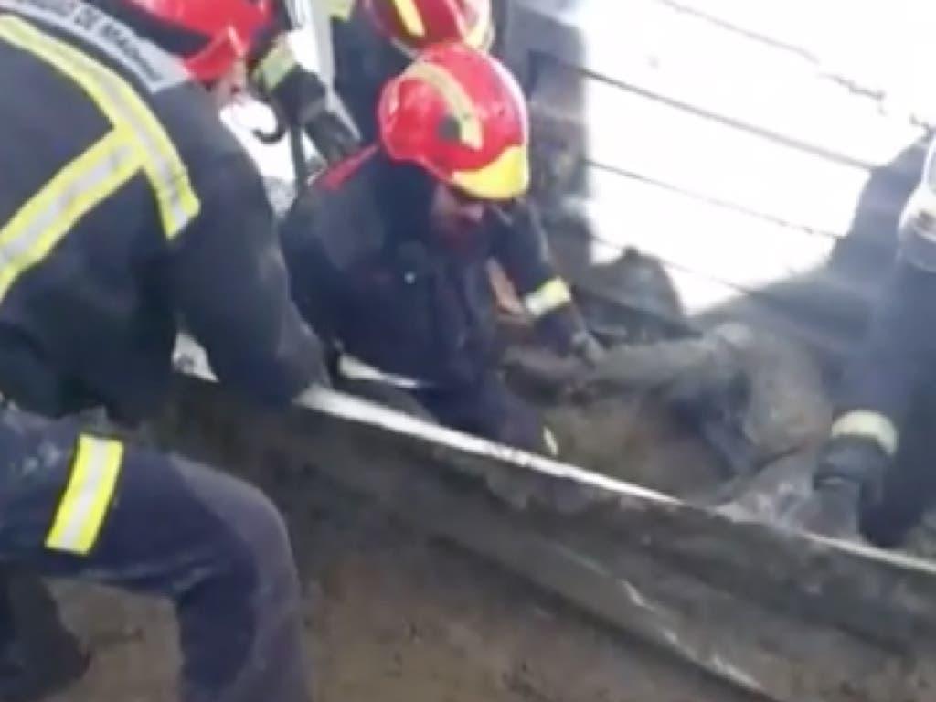 Cuatro obreros heridos al ceder un forjado en Alcobendas