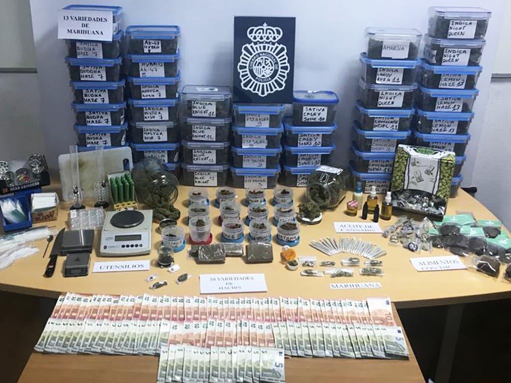 Desmantelados en Madrid dos clubes cannábicos dedicados a la venta de droga