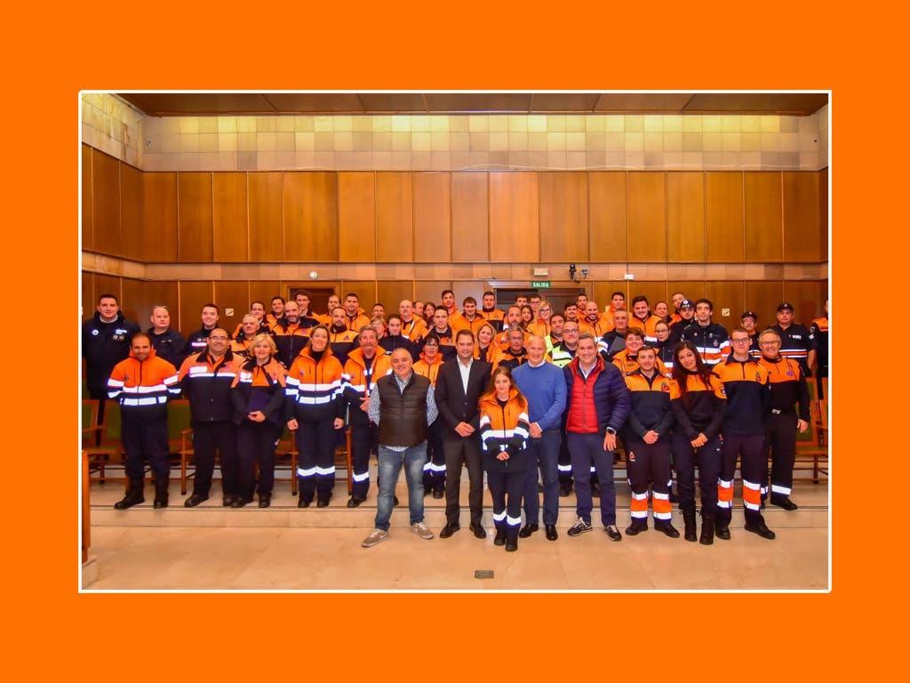 Reconocimiento a los voluntarios de Protección Civil quecolaboraron en las Mágicas Navidades de Torrejón
