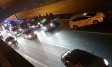 Dos taxistas detenidos tras cerrar el paso a un VTC en la A-2