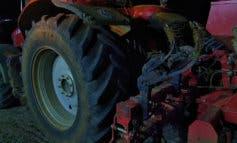 Muere un hombre aplastado por la rueda de un tractor en Guadalajara