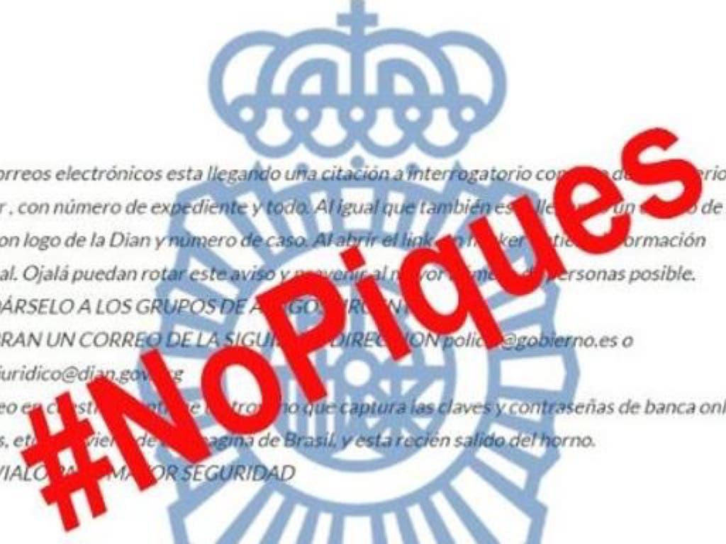 La Policía alerta de un nuevo virus por correo electrónico