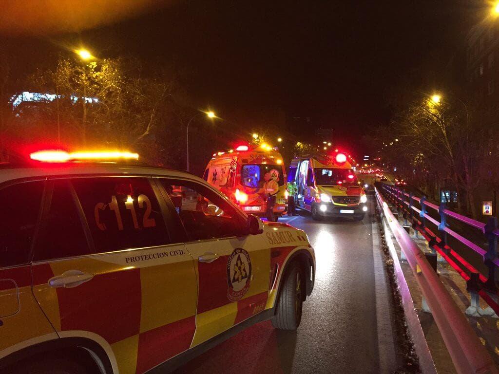 Muere un joven de 30 años en un accidente de moto en Madrid