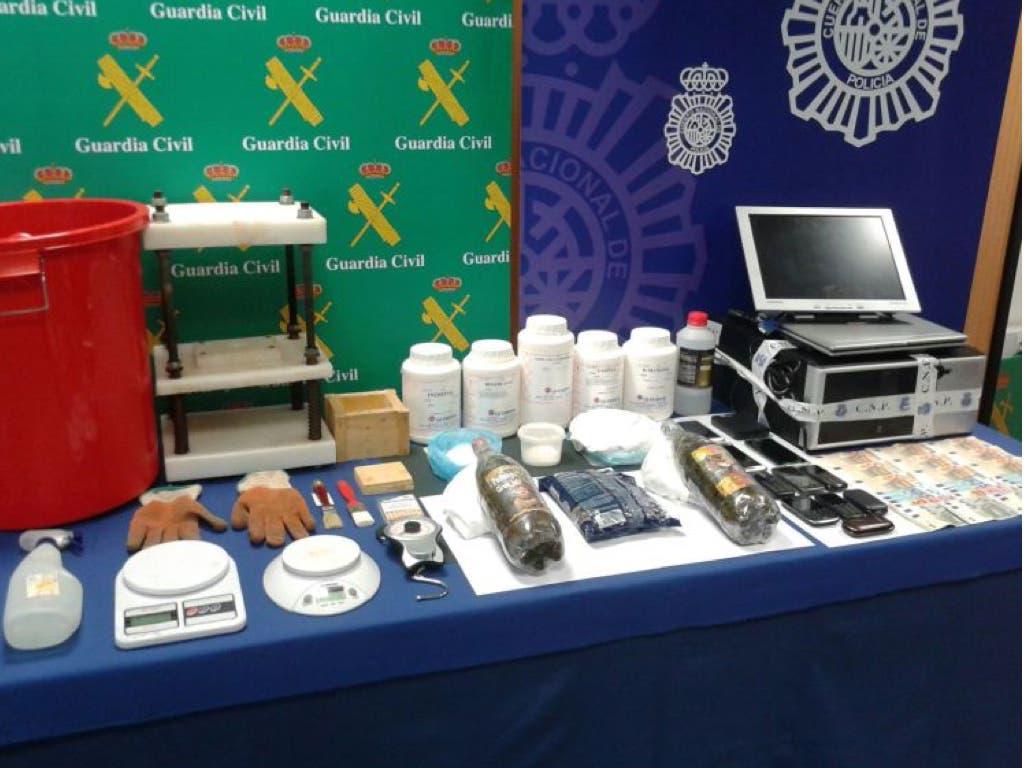 Juicio a una red de narcos con un laboratorio en Guadalajara