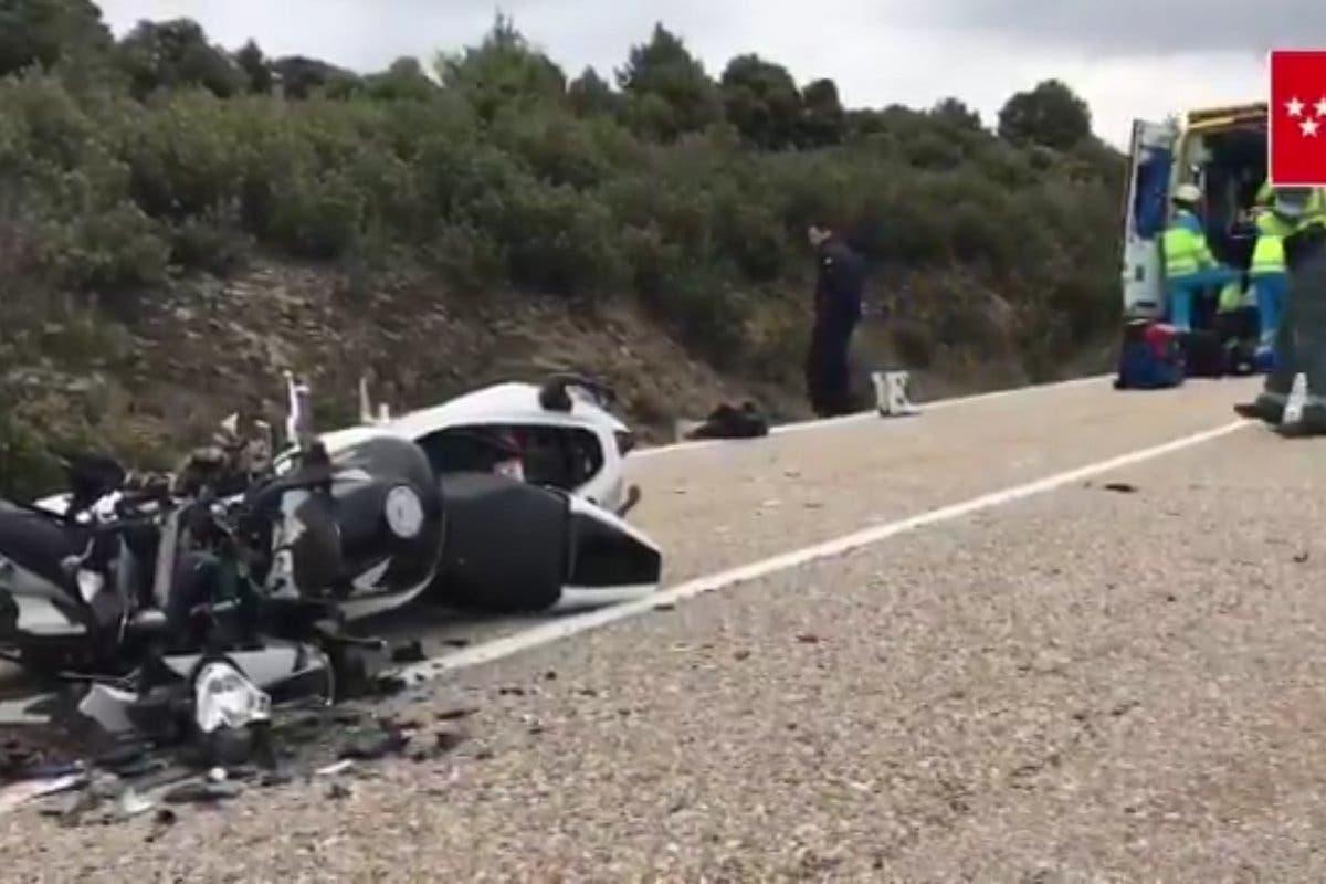 Muere un motorista y otro resulta muy grave al chocar en la M-133