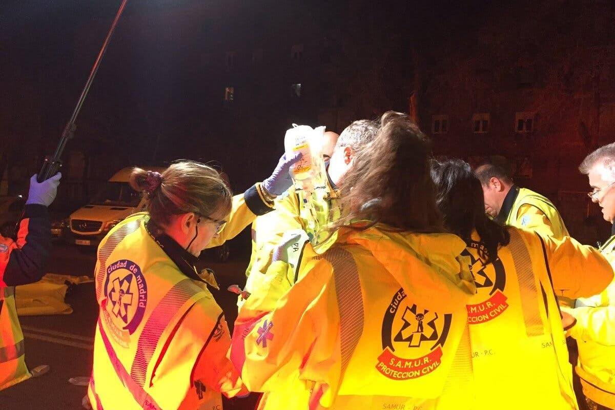 Herido grave un hombre tras ser atropellado por un camión en Madrid