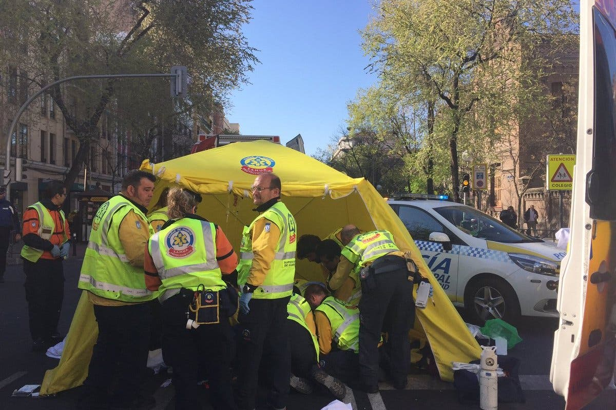 Muy grave una anciana atropellada en Madrid