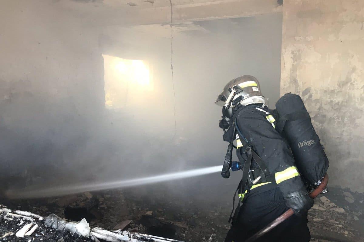 Muere un anciano tras incendiarse su casa en Pedrezuela