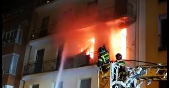 Un incendio en Madrid deja 11 personas intoxicadas