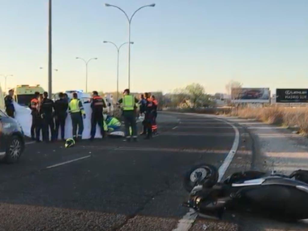 Muere un motorista de 54 años en Leganés