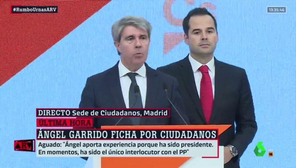 Ángel Garrido deja el PP y ficha por Ciudadanos