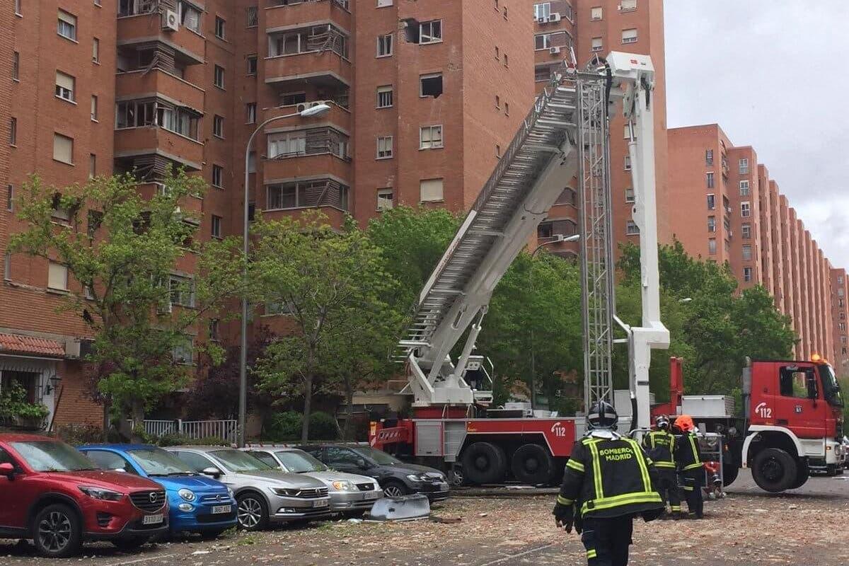 Varios heridos por una explosión en un edificio de Vallecas