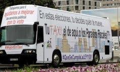 Los taxistas de Madrid piden el voto para Podemos