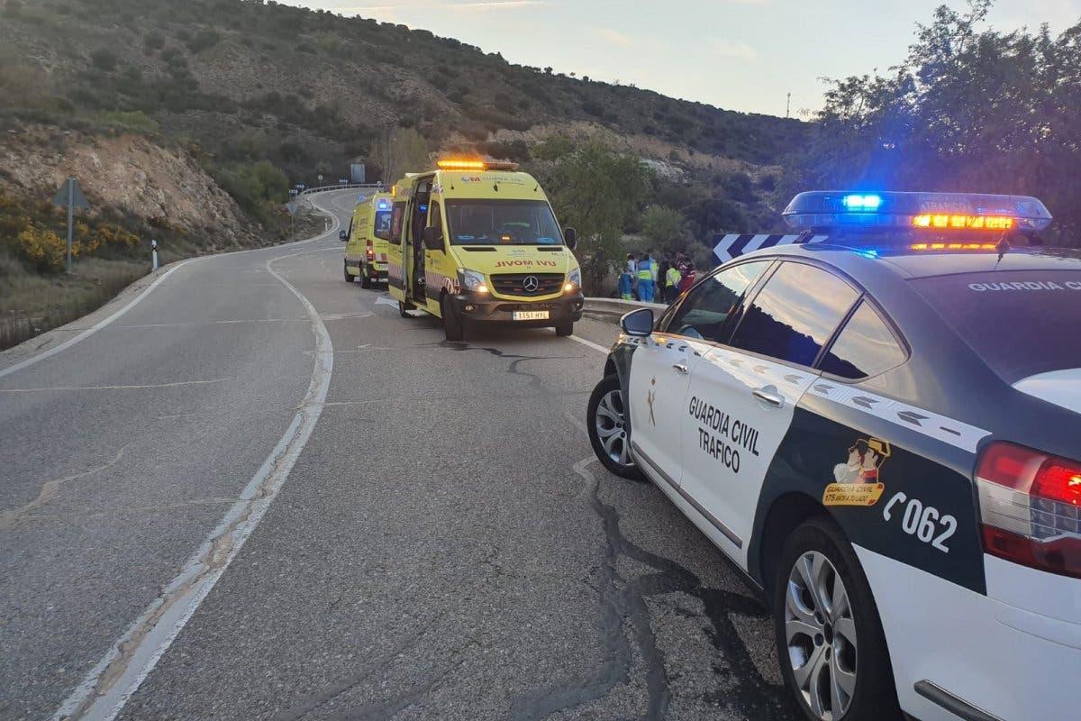 Herido un hombre en un accidente de moto en Ambite