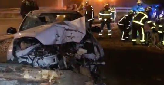 Muere un conductor al chocar contra un árbol en la M-50
