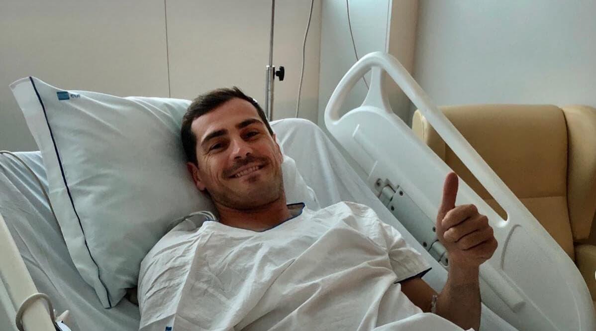 Iker Casillas recibe el alta cinco días después de sufrir un infarto