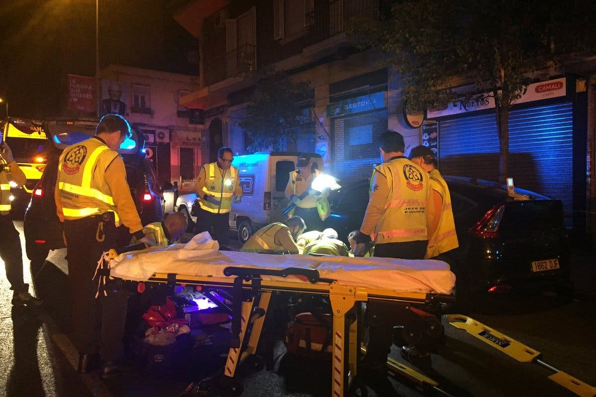 Herido gravetras ser atropellado por un taxi en Usera