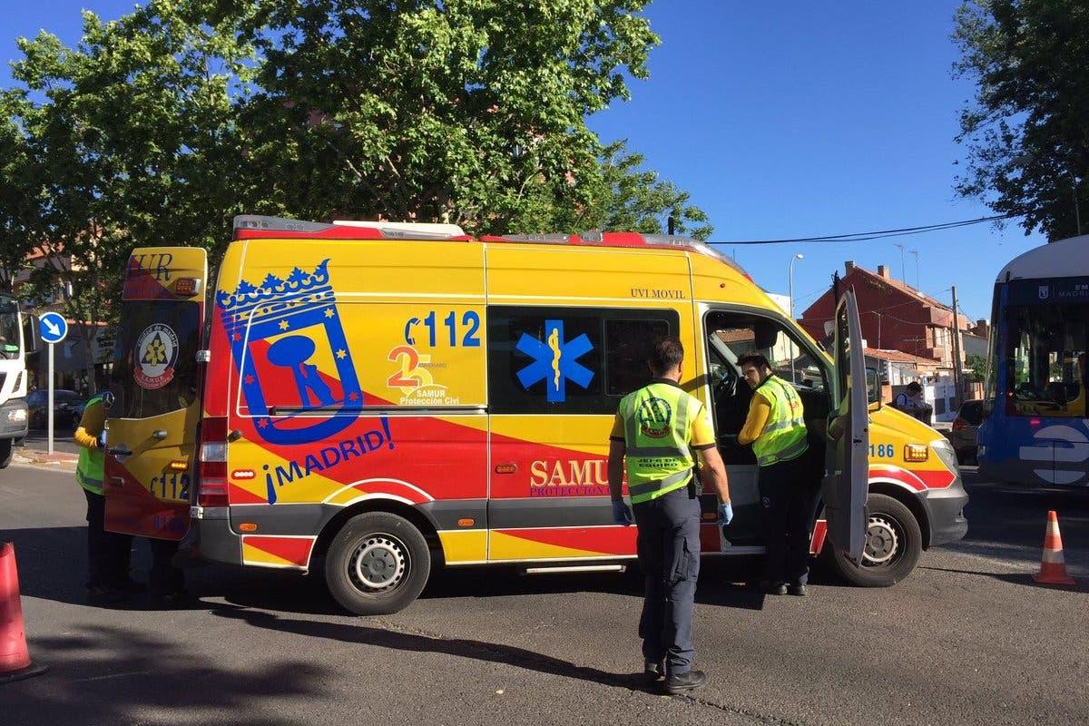 Muy grave una mujer tras ser atropellada por un todoterreno en Madrid