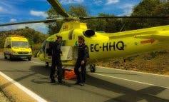 Herido grave un joven tras ser atropellado por una retroexcavadora