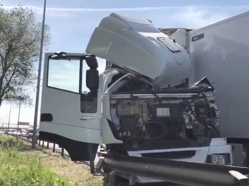 Herido grave un camionero tras sufrir un accidente en Torrejón