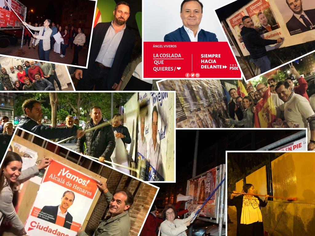 26-M: Primeros carteles y lemas de campaña en el Corredor del Henares