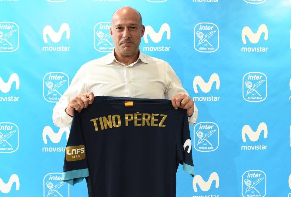 Tino Pérez, presentado en Torrejón como nuevo entrenador del Movistar Inter
