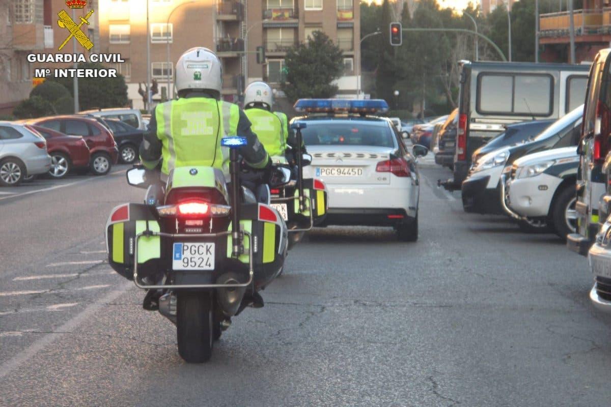 La Guardia Civil detectó 38 alcoholemias positivas en carreteras de Guadalajara el fin de semana