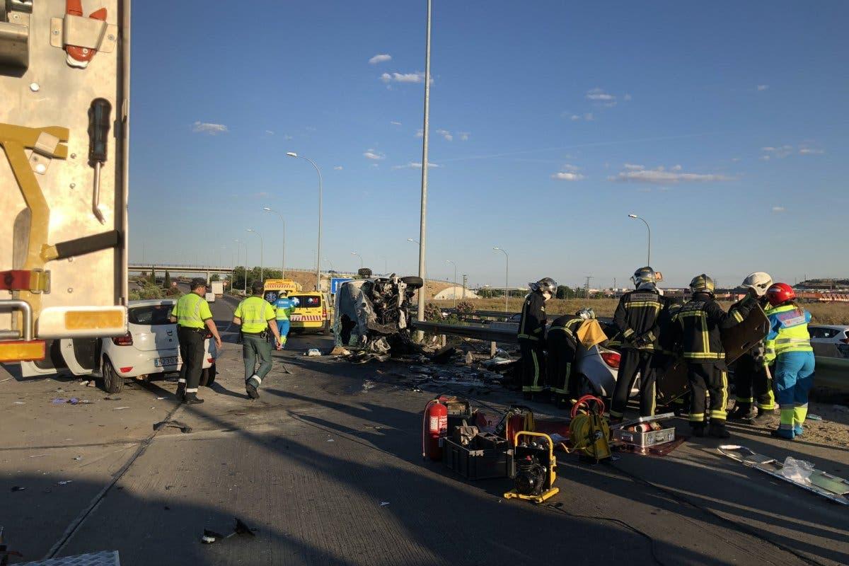 Muere un conductor en un accidente múltiple en la M-50