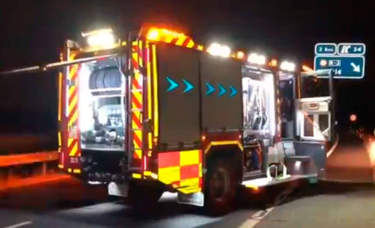 Tres heridos en un accidente de tráfico en Perales de Tajuña