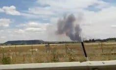 Un incendio de pastos en San Fernando provoca una gran columna de humo