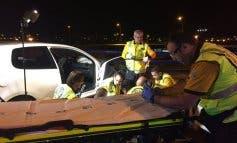 Cinco heridos, dos graves, en un accidente en Vallecas