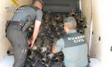 Detenido en Azuqueca tras robar 79 tubos de escape de furgonetas