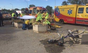 Muy grave una mujer atropellada en Vallecas cuando iba en bicicleta