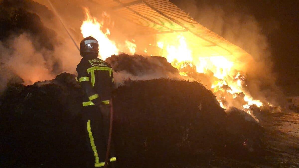 Diez cabras muertas y 500 rescatadas de un incendio esta madrugada