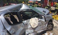 Siete heridos en un accidente múltiple en la A-42