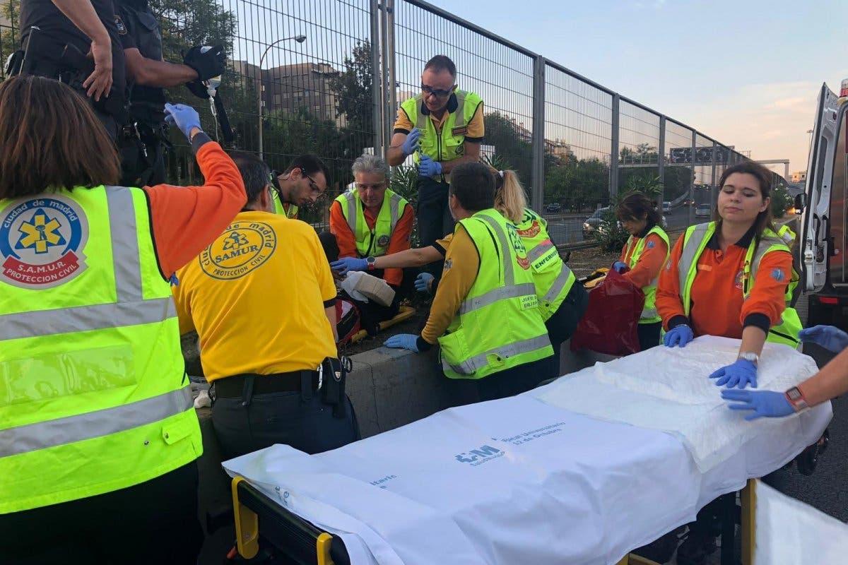 Herido grave un joven atropellado en la M-30 cuando huía de la Policía