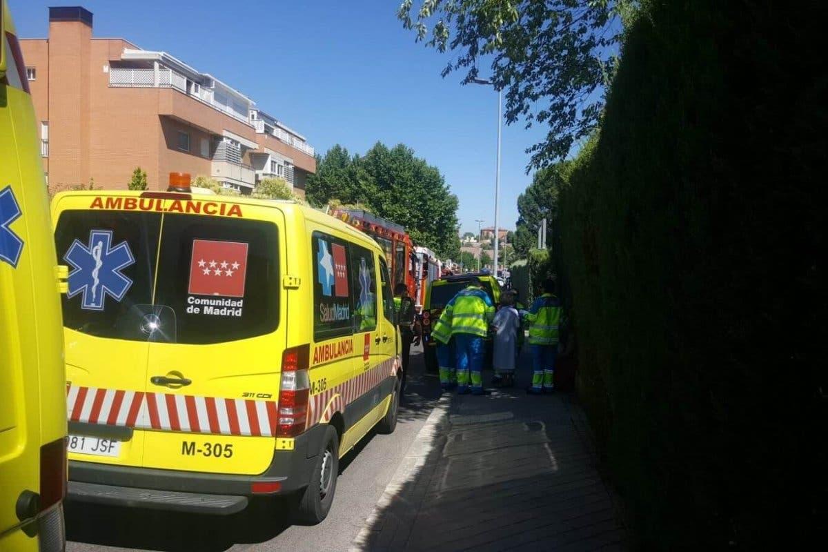Intoxicadas una decena de personas en un incendio en Rivas