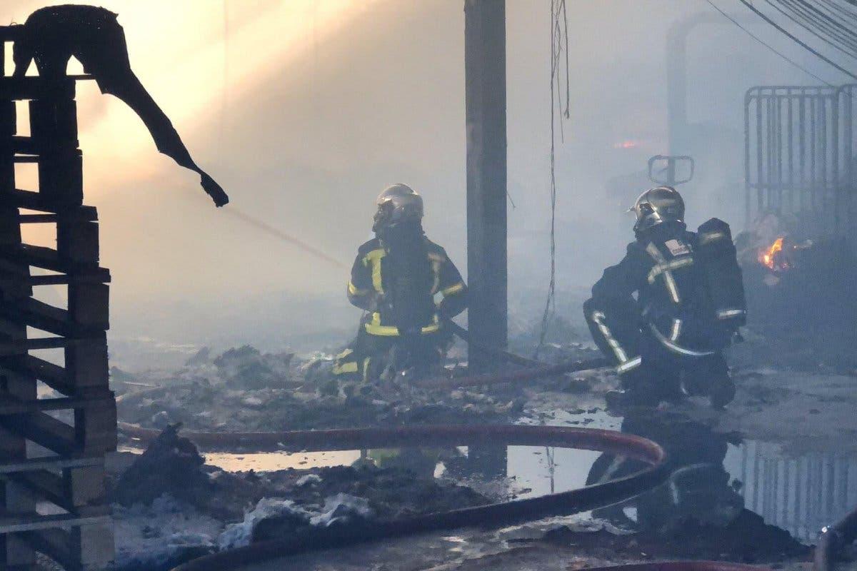 Incendio sin heridos en un polígono industrial de Leganés