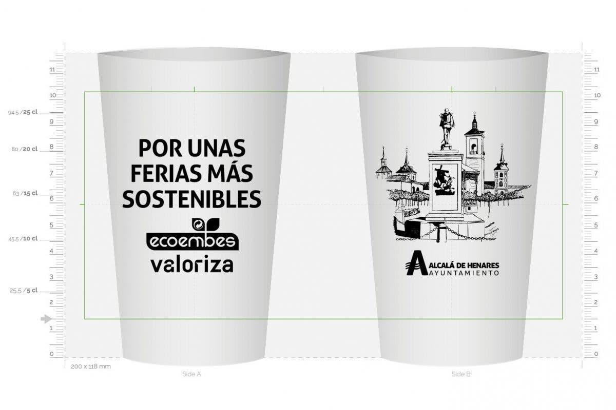 Alcalá de Henares repartirá en Ferias 12.000 vasos reutilizables