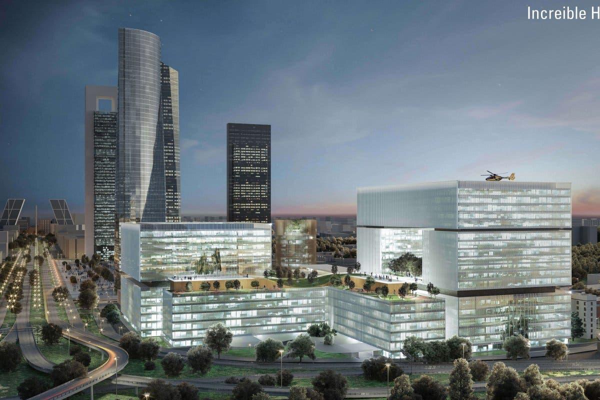 El nuevo Hospital de La Paz podría llegar a tener 33 plantas